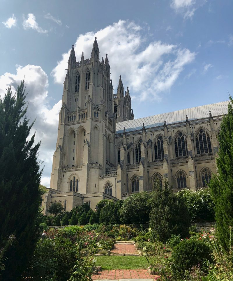 National Cathedral From Gardens