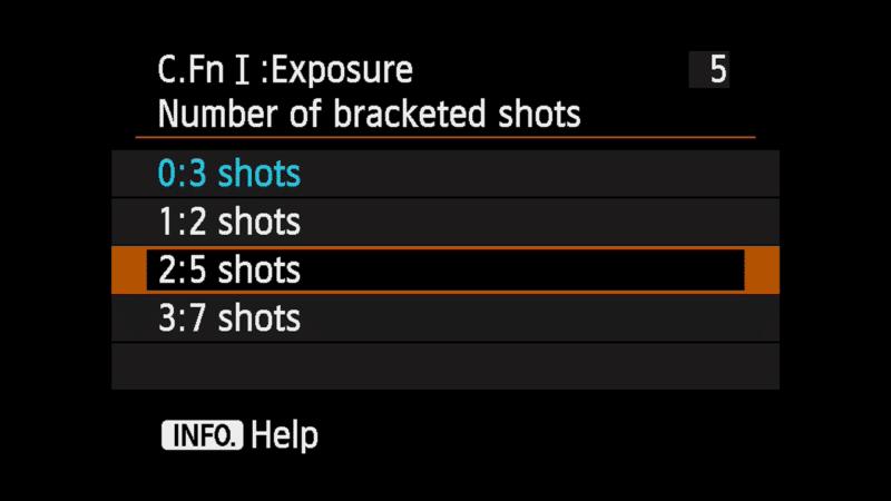 Canon 6D Multiple Bracket Shot