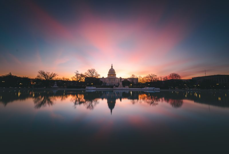 Colorful Dc Sunrise At The Us Capitol