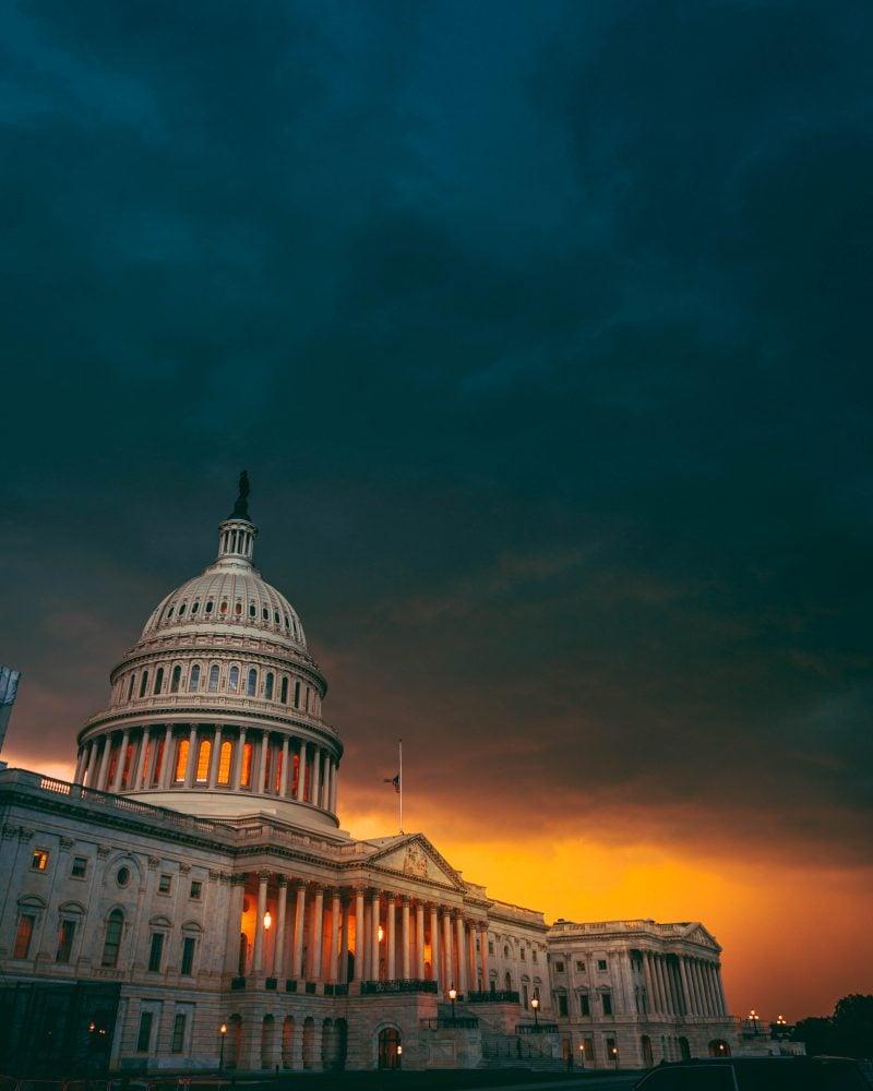 Storm Clouds Us Capitol Washington DC