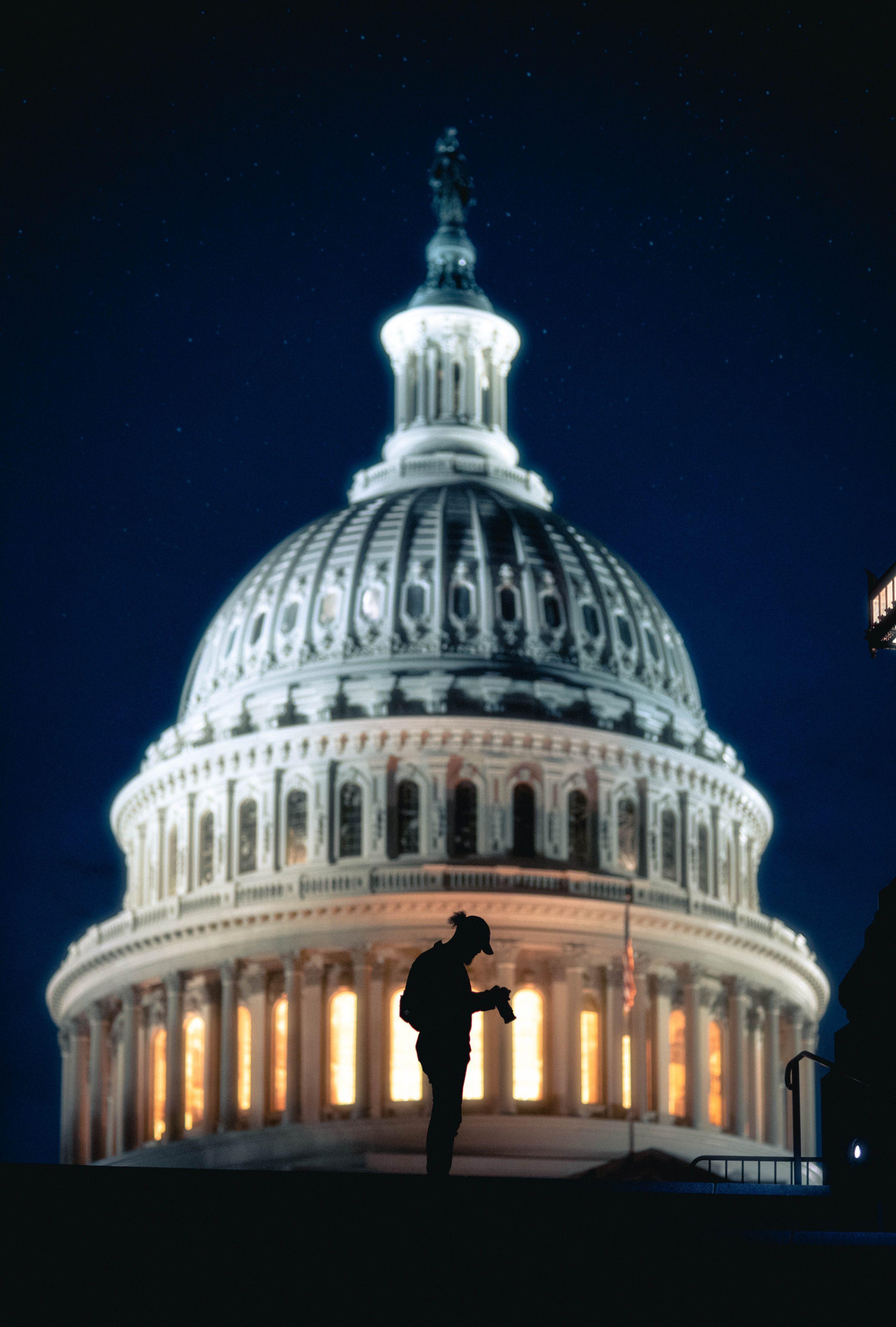 Us Capitol Silhouette