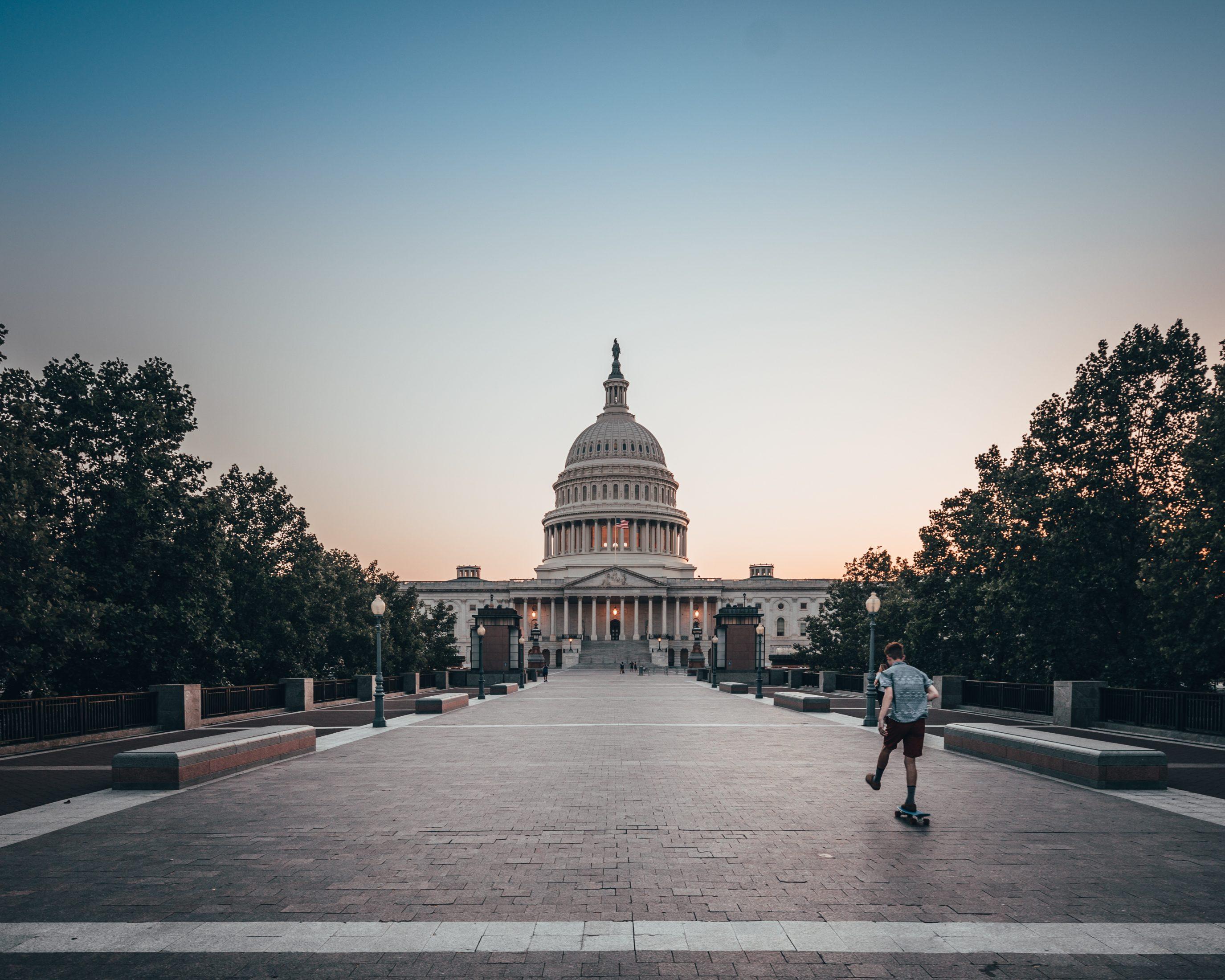 Us Capitol Skateboarder