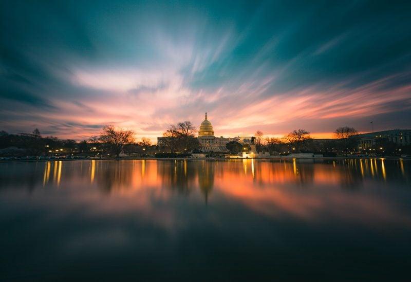 Us Capitol Sunrise Long Exposure