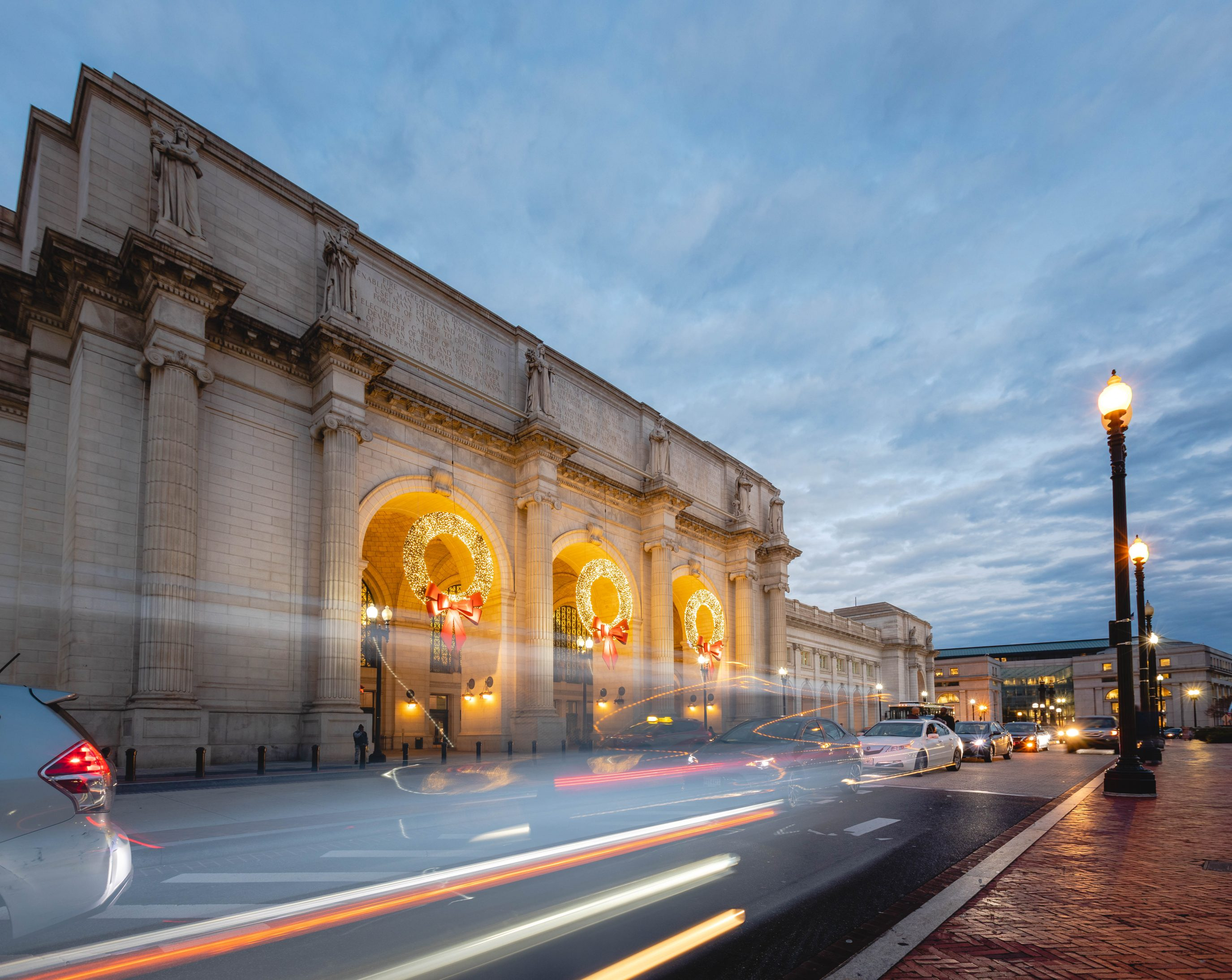 Christmas Wreaths at Union Station in Washington D.C. (Photos)