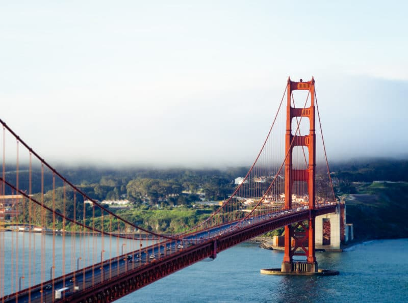 Golden Gate Bridge Tilt Shift