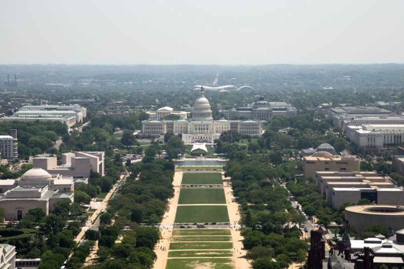 United States Capitol from the Washington Monument