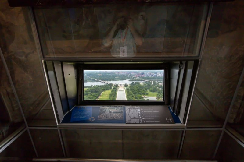 Washington Monument Window Interior