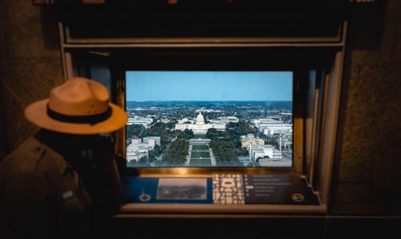 Interior Of Washington Monument Park Ranger Capitol