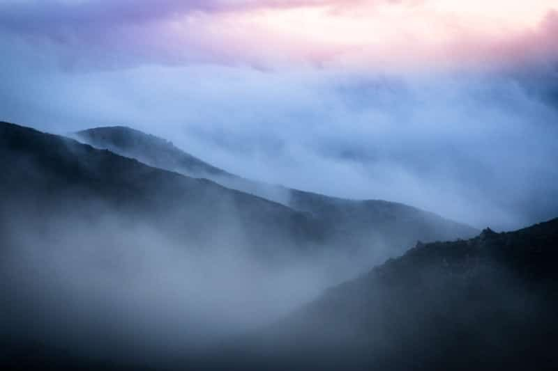 Foggy Mountains in California