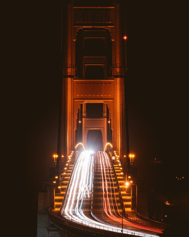 Golden Gate Bridge Lookout Traffic View