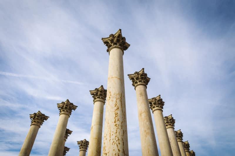 National Arboretum Columns Sky
