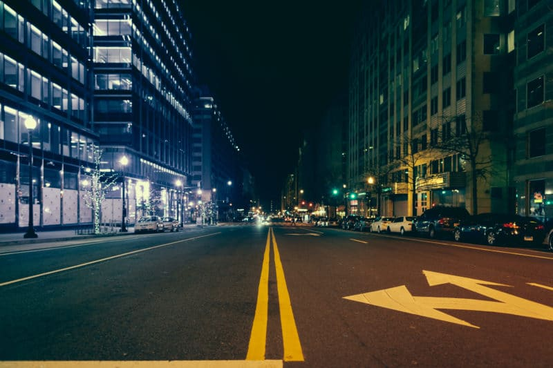 Dc Street At Night