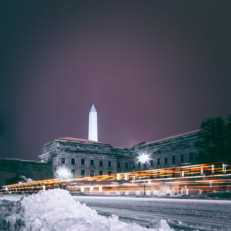 Snow Plows In Dc At Night