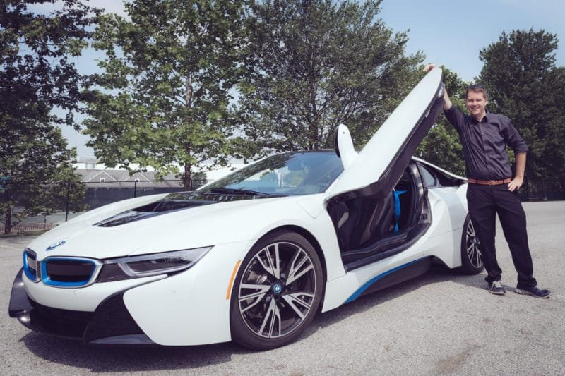 Andy Feliciotti with BMW i8