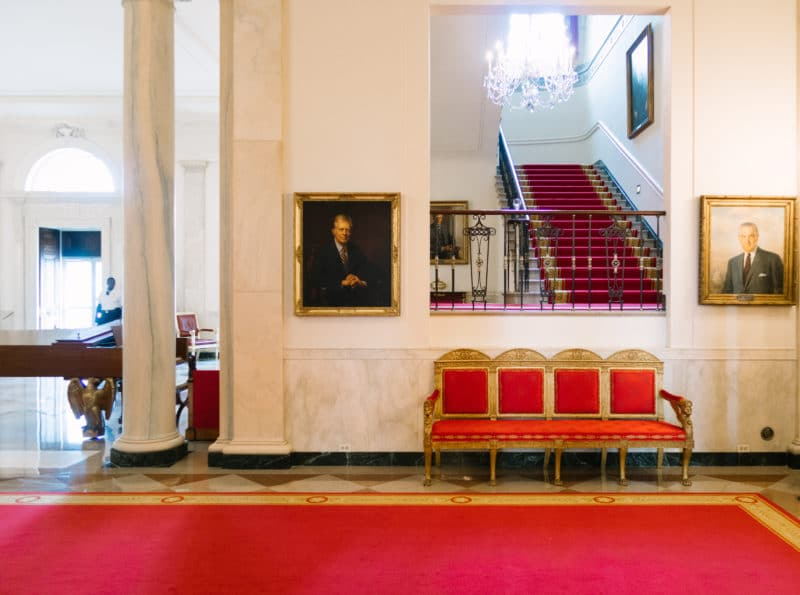 Cross Hall At The White House