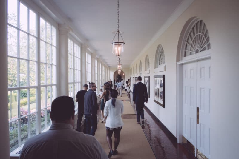 East Colonnade In The White House