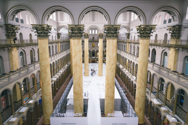 Forth floor of the Building Museum at thebeachdc