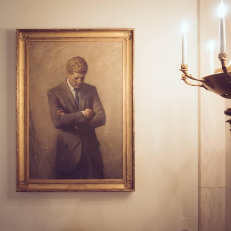 Jfk Portrait In The White House