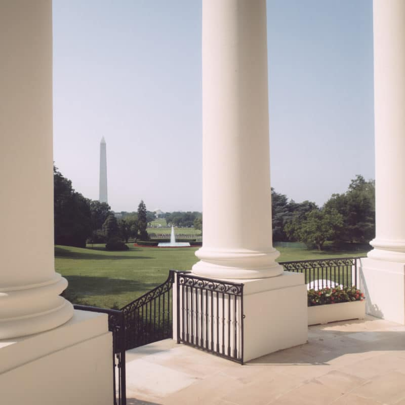 View Of Dc From The White House
