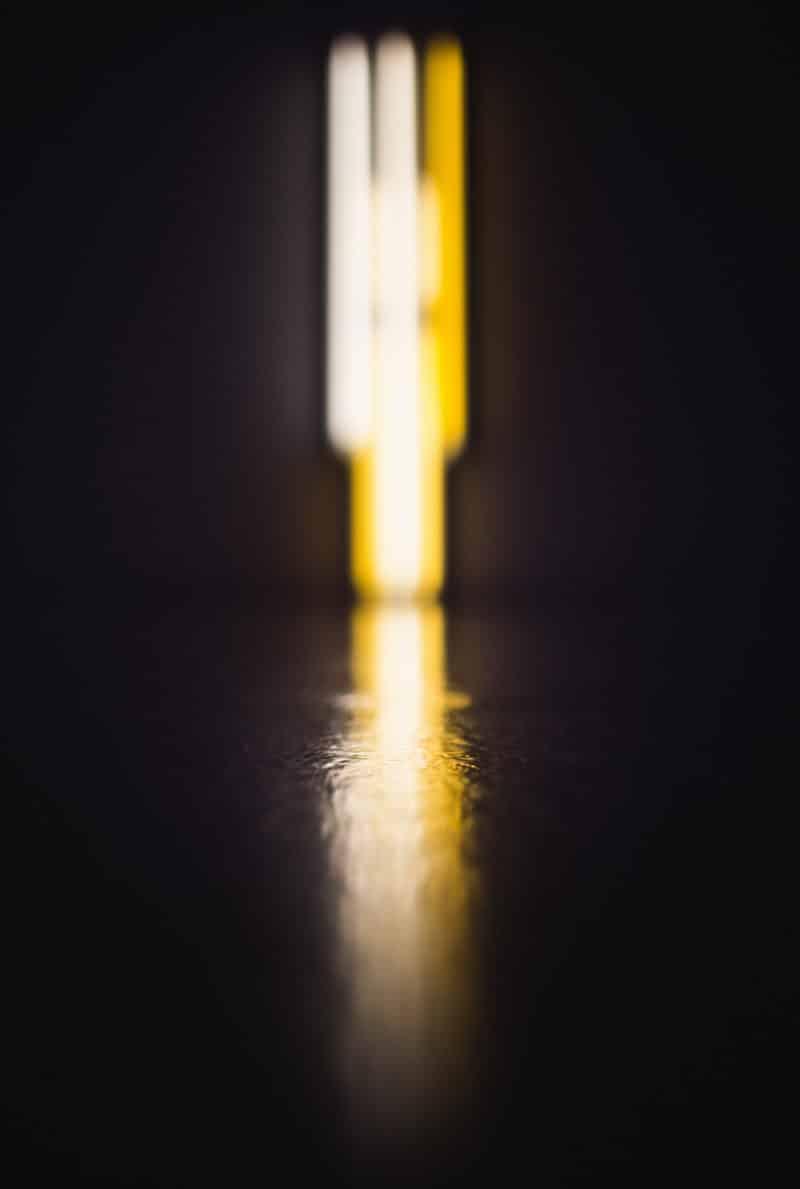 Dan Flavin Hirshhorn Reflection