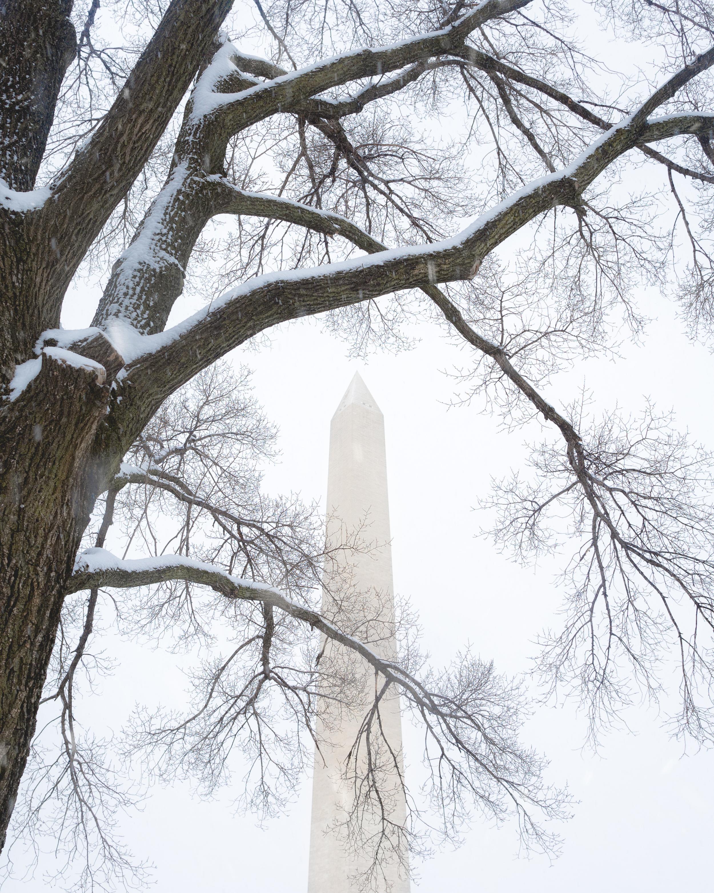 Snowy Washington Monument