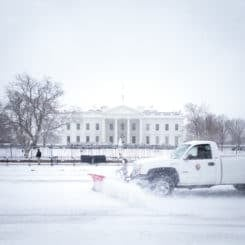 Snowy White House