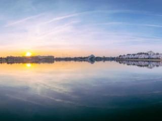 Dc Pano Cherry Blossom Sunrise