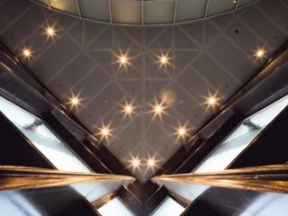 Fulton Center Entrance Look Up