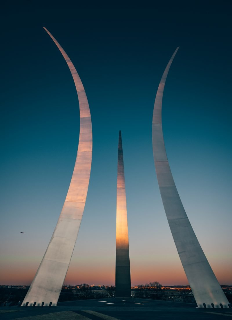 Air Force Memorial In DC at Sunset