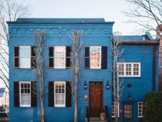DC Georgetown Row House Blue