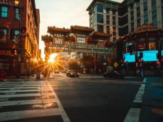 Friendship Arch Sunrise Chinatown DC