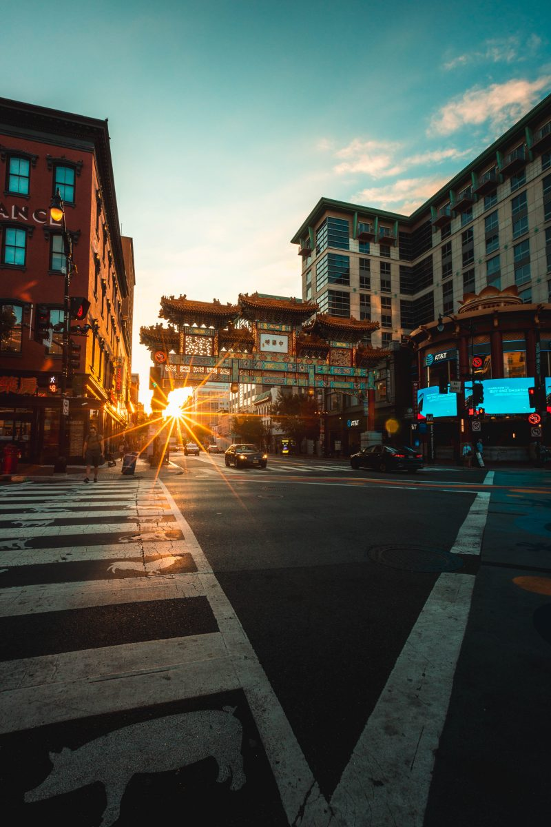 Friendship Arch Sunrise Chinatown DC