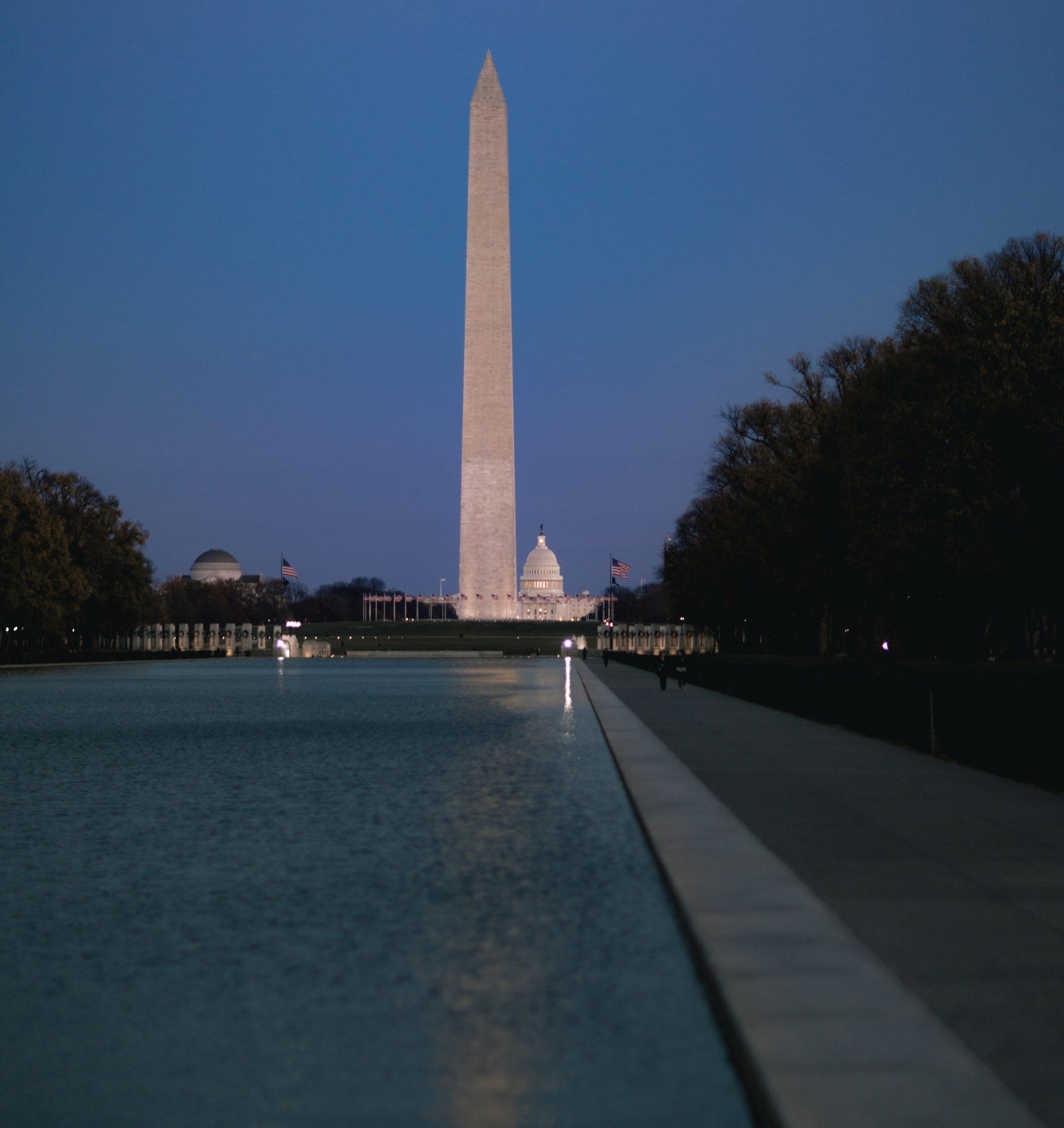 Washington Monument Capitol Reflecting Pool DC