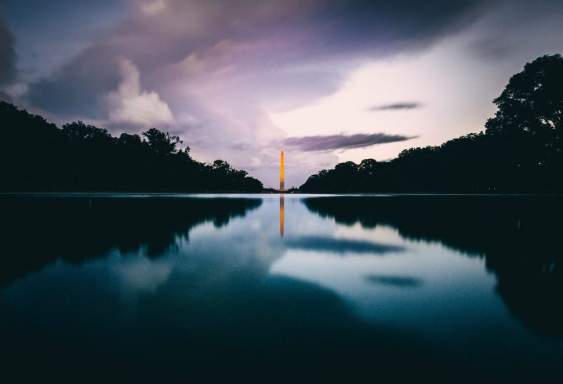 Washington Monument Moody Night