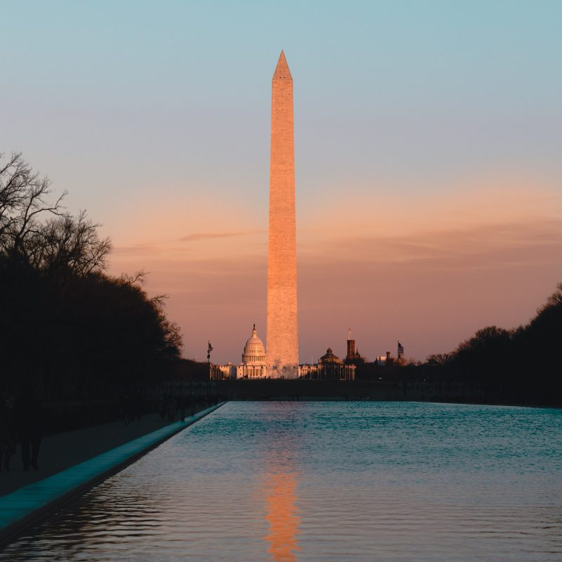 Washington Monument Sunset Reflecting Pool