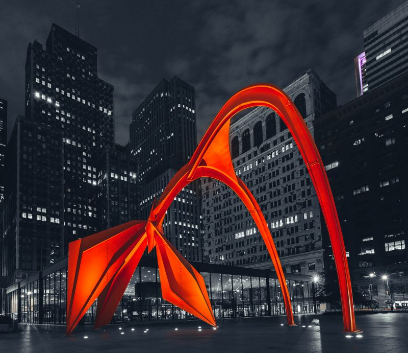 Calder's Flamingo Chicago