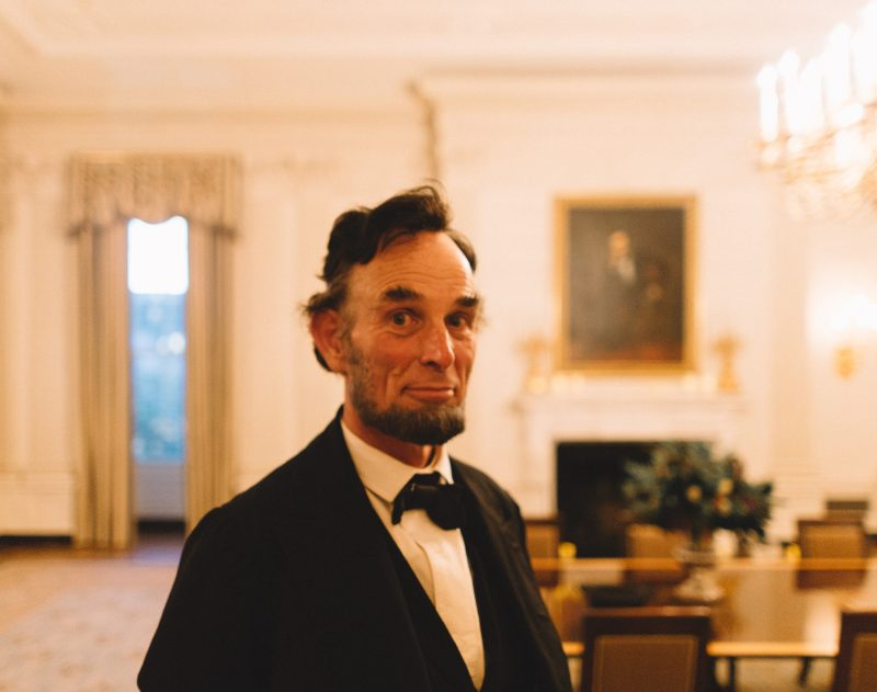 Abe Lincoln reenactor at the White House