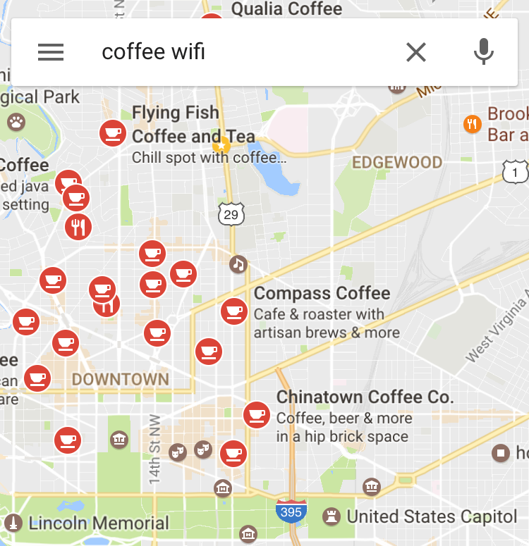Google Coffee Wifi