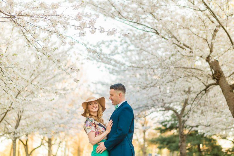 Cherry Blossoms Engagement Photos Dc