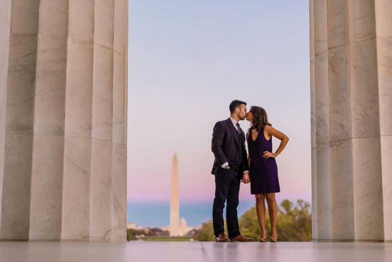 Lincoln Memorial Engagement Photos