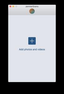 Uplet: Instagram Uploader for Mac Upload Screen