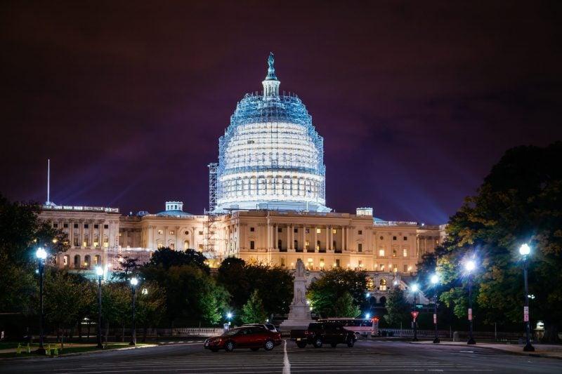 Washington Dc Capitol At Night
