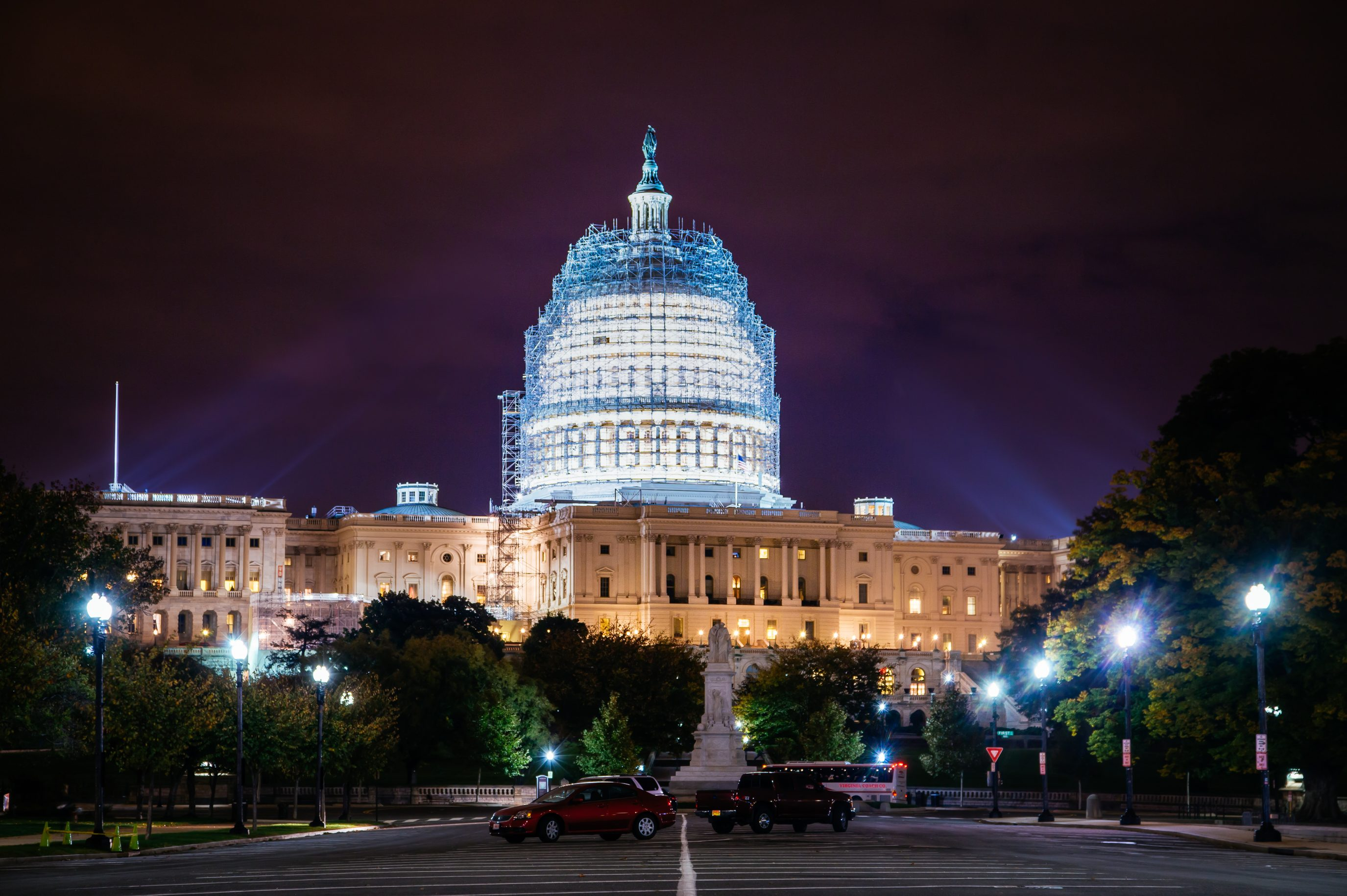 Washington Dc Capitol At Night