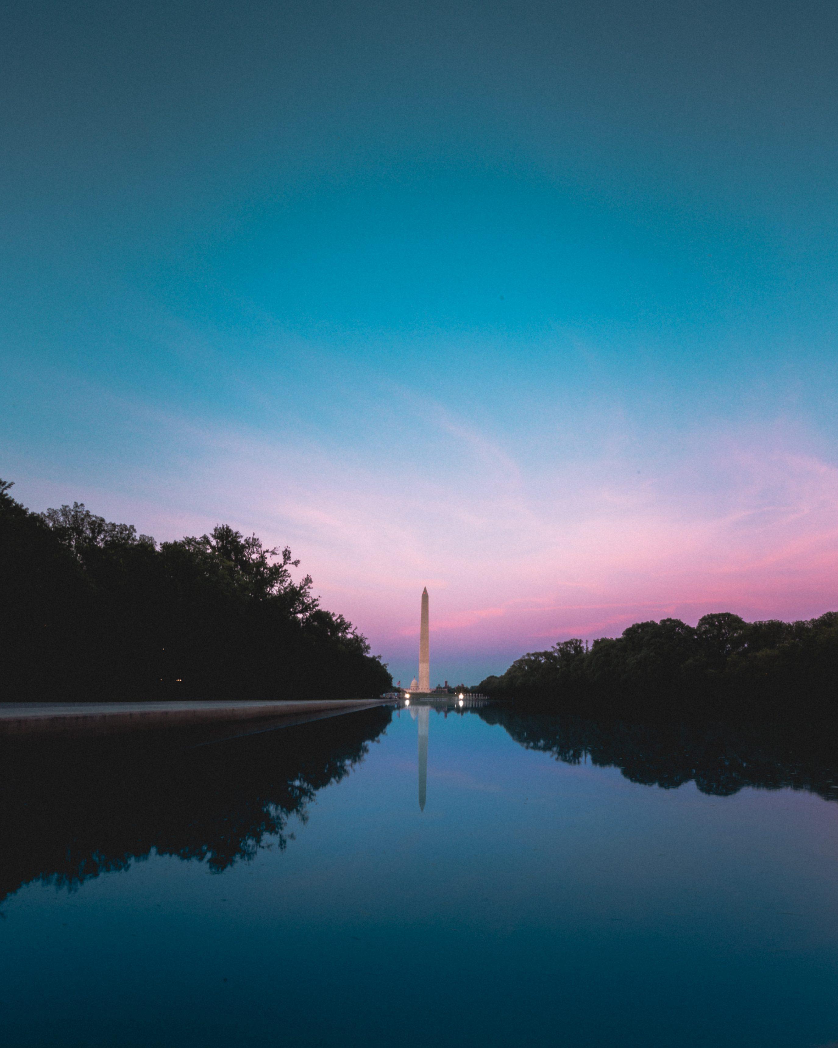 Washington Monument Reflecting Pool Sunset