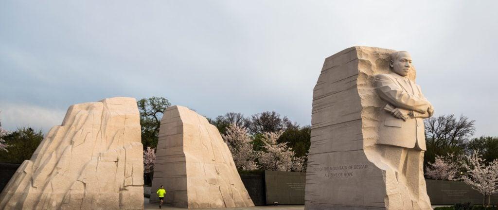 Martin Luther King Jr Memorial At Sunrise