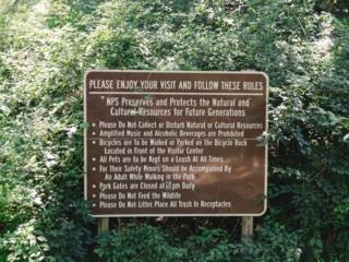 Kenilworth Aquatic Gardens Rules Sign