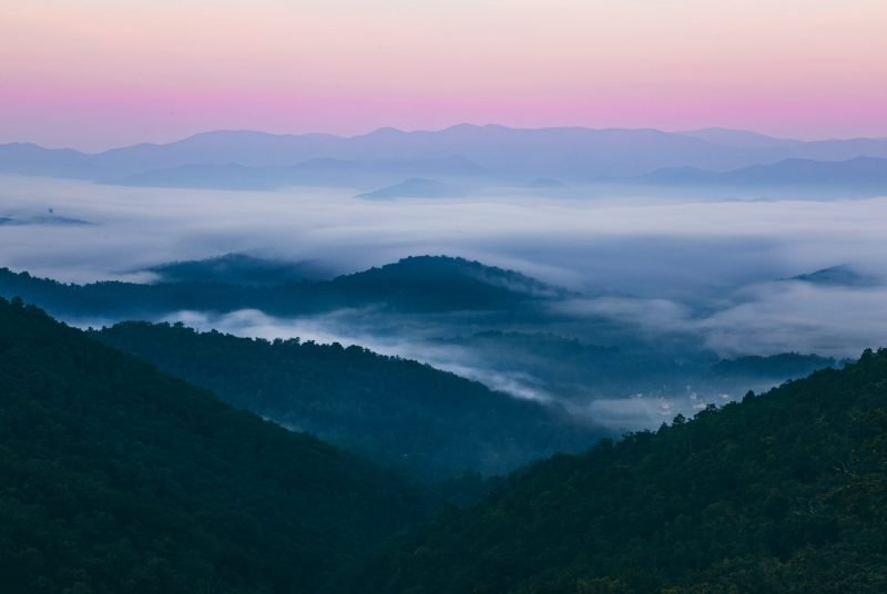 Great Smoky Mountain Range Sunrise