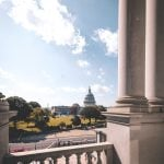 View Of The Capitol From Library Of Congress