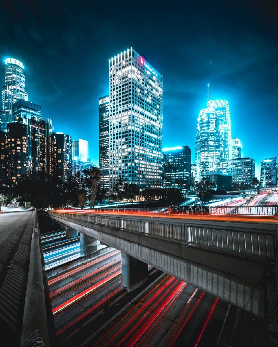 Downtown La Light Trails