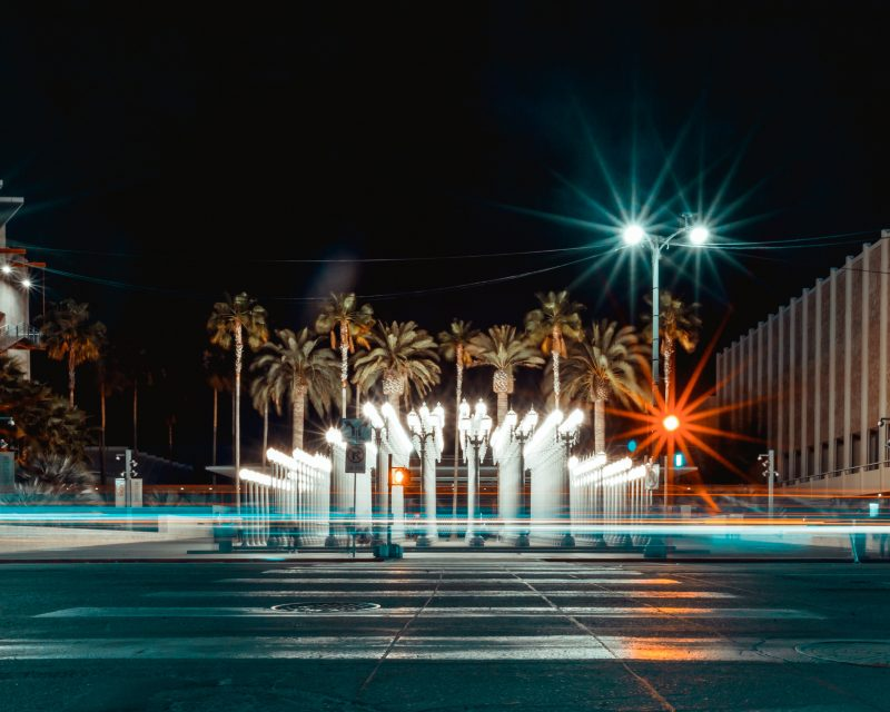 Lacma Urban Light Long Exposure